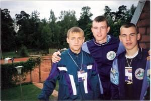 Чемпионат Европы. Латвия 1998 год. Р.Хрулев с друзьями.