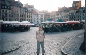 На ратушной площади в Варшаве.