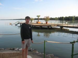 Дмитрий Иванов на озере Балатон